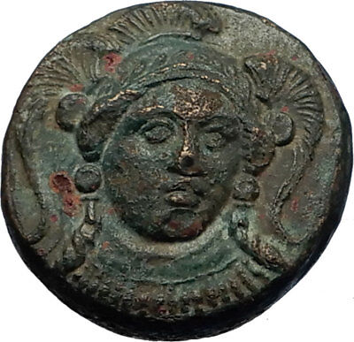 KLAZOMENAI in IONIA Authentic Ancient 380BC Greek Coin w ATHENA & RAM i69283