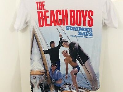 Beach Boys Mens Tshirt Fitted Size XL Vintage Distressed Style Summer Days Album
