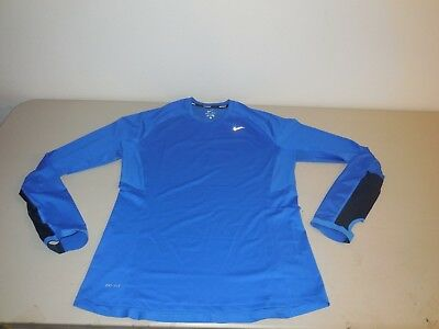 db7672ea Source · NIKE SPEED LONG Sleeve Running Shirt Dri Fit Blue Athletic 474043