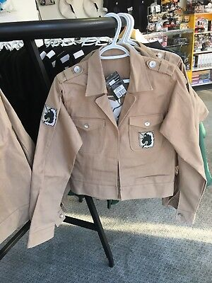 Attack on Titan Denim The Military Police Jacket- Sizes 1 Med 2 Large