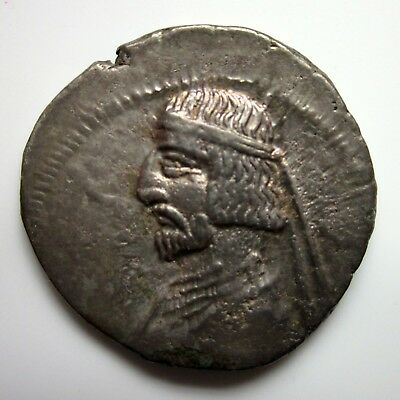 80 - 72 BC Kings of Parthia UNKNOWN KING Parthian DRACHM Ancient SILVER Coin