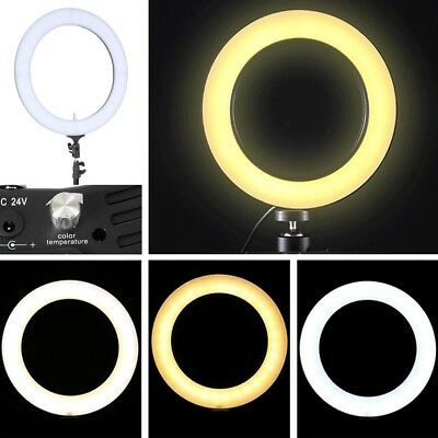 """Camera 18"""" LED Ring Light 5500K Dimmable Studio Lighting Photo Video Stand NEW"""