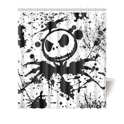 The Nightmare Before Christmas Fabric Durable Shower Curtain 66x72Inch