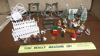 Vintage 28 Piece Lot of assorted Outdoor Dollhouse miniatures