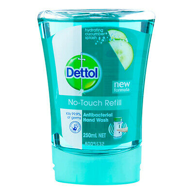 NEW Dettol Hand Wash Refill No Touch Hydrating Cucumber Splash 250ml