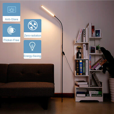 Led Floor Lamp Dimmable Ultra Slim Light Reading Study Gooseneck Bedroom Office