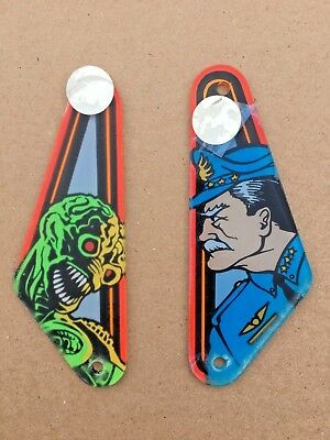Original Bally Williams Attack From Mars Pinball NOS plastic slingshots