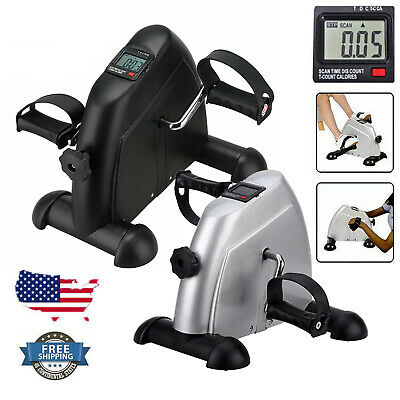 Portable Digital Mini Pedal Stepper Exerciser Leg Arm Cycle Fitness Trainer Bike