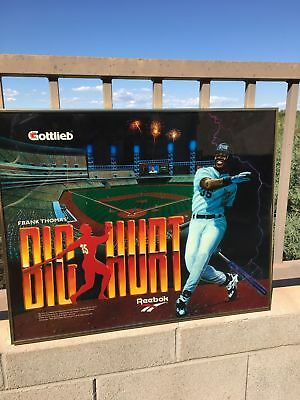 Original Gottlieb Frank Thomas Big Hurt pinball backglass/translight framed marq