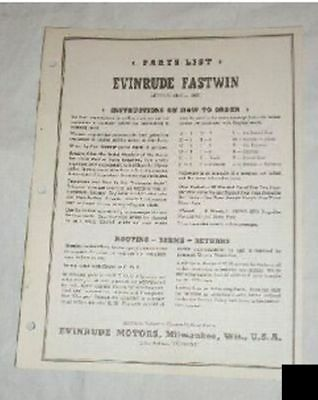 Evinrude Outboard Parts List Catalog Manual Fastwin