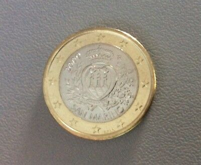 "San Marino 1 Euro Coin 2009 ""Coat of Arms"" UNC"