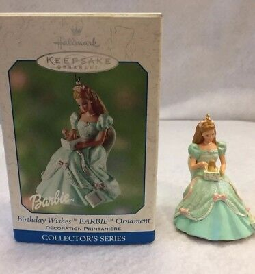 Hallmark Keepsake~Birthday Wishes Barbie Ornament~ Series 2~Dated 2002~ In Box ~