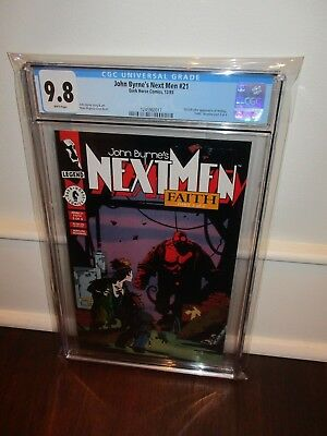NEXT MEN #21 (1993) 1st HELLBOY IN COLOR CGC NM/MT 9.8 WHITE PAGES SHARP COPY!