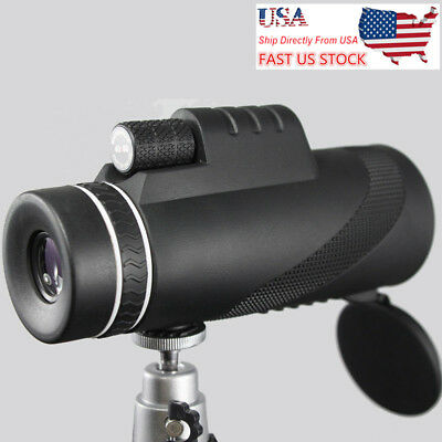 US 40x60 Handhel Zoomable Monocular HD Optic Telescopes With Clip & tripod Gifts