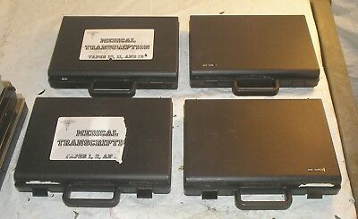 Lot of 4 Cassette Tape Briefcase Holders w Carry Handles
