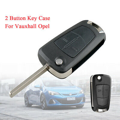 For Vauxhall Opel Corsa Astra Vectra Zafira 2 Button Remote Flip Key Fob Case UK