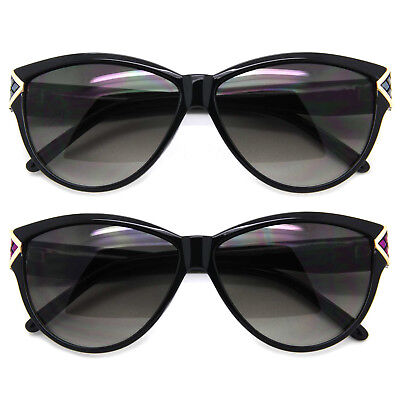 Hot Cat Eye Sunglasses Color Retro Frame Women Fashion Shades Gradient Lens