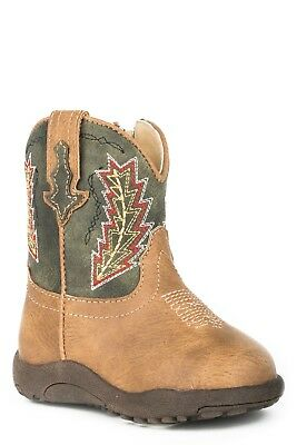 ROPER - Infant's Cowbabies - Arrowheads - Tan / Green - 16900077 - NEW