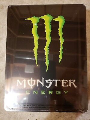 "11"" X 8 1/4"" Tin Metal Monster Energy Drink Sign Double Sided"