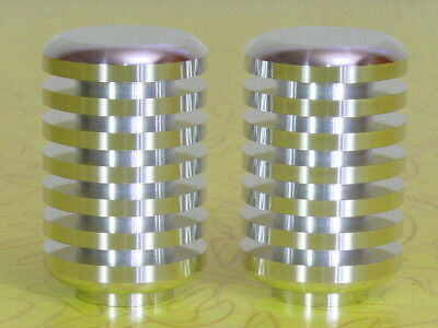 "2"" Lamp Finials, Art Deco Mid Century Modern Machined Aluminum, 3/8"" Threads"