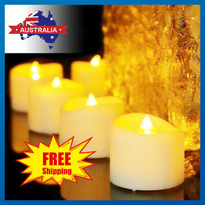 24 x LED Flameless Flickering Tea Light Tealight Candle Wedding Battery Included