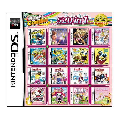 520 IN 1 Game Car Cartridge Multicart For Nintendo DS NDS NDSL NDSi 3DS 2DS XL