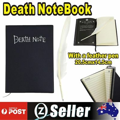Death Note Book Cosplay Notebook Feather Pen Writing Journal Diary Anime Theme
