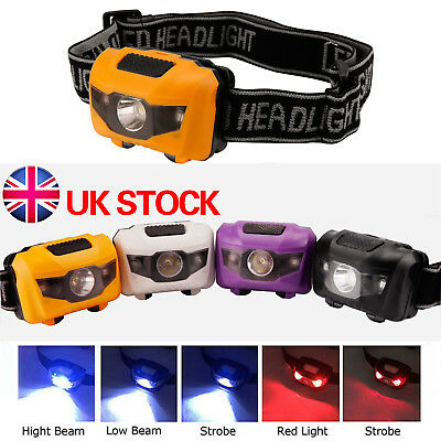 Battery LED Head Torch Headlight Lamp CREE Camping Induction Headlamp