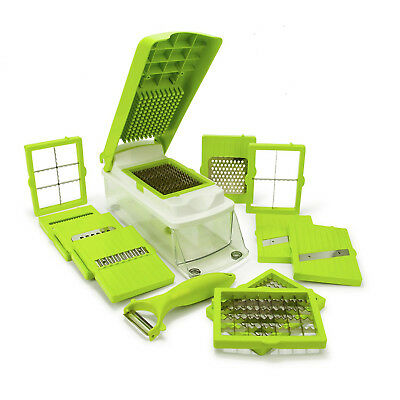Vegetable Chopper Slicer Dicer Cutter & Grater, Multi Interchangeable Blades