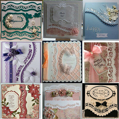 6PCS/LOT Vintage Lace Wavy Border Edge Metal Cutting Dies Embossing Paper Crafts