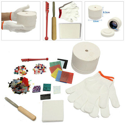 10pcs/Set Stained Glass Fusing Supplies Professional Microwave Kiln Kit Tool DIY