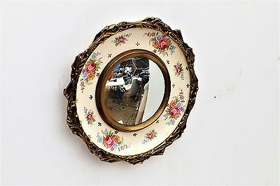 Mirror Burleigh ware with bronze rim