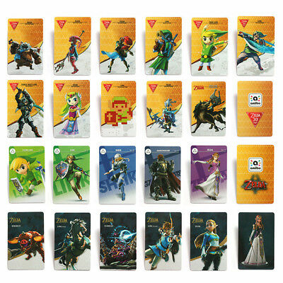 22 Full Set NFC PVC Tag Card ZELDA BREATH OF THE WILD WOLF LINK for Switch Wii