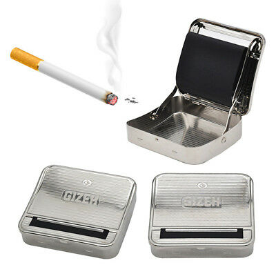 Silver 70mm Tobacco Rolling Box Metal Automatic Cigarette Smoking Roller Machine