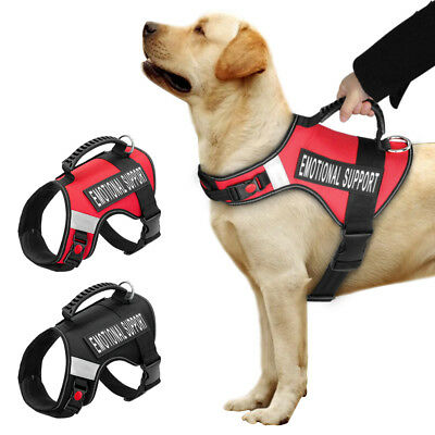 Reflective Large Dog Harness Emotional Support Patch Air Mesh Service Harnesses