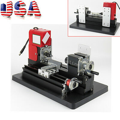 Mini Wood Working Lathe Motorized Machine DIY Tool Metal Woodworking US Fast CE