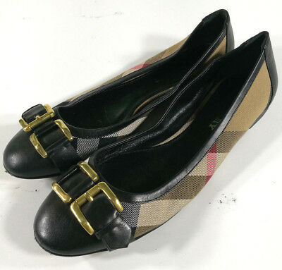 Burberry Ballerine Scarpe Donna Shoes Schuh Zapatos Vintage