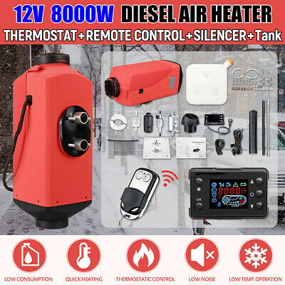 8KW 12V 8000W Diesel Air Heater LCD Thermostat Quiet For Motorhome Trucks Boats