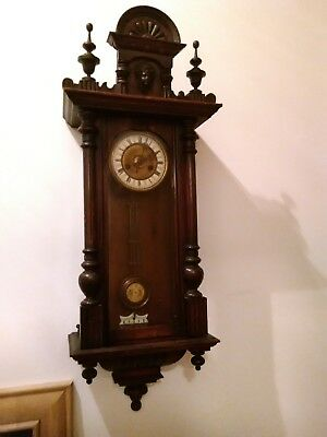 Antique Vienna Wall Clock. Could use some tlc