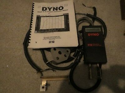 Dyno Stealth Gauge & PC Program Instruction Manual Data for Racing Vehicles 1994