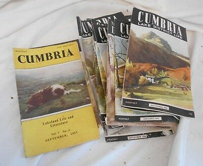 JOB LOT of Vintage Early CUMBRIA LIFE Lake District MAGAZINES Booklets 1950s 70s