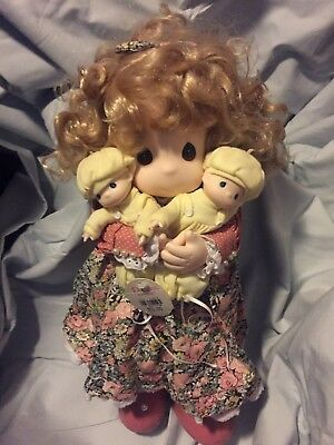 """PRECIOUS MOMENTS-Susan with Twins 15"""" Doll-Mommy I Love You Series 5th ED-1995"""