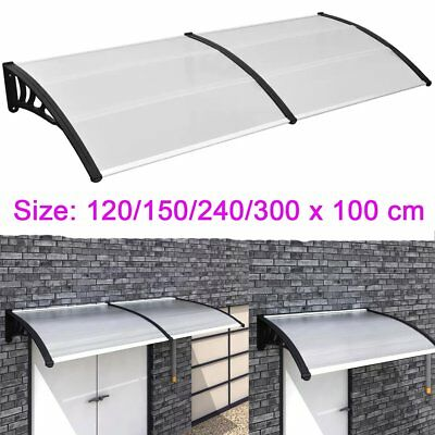 4 Sizes Door Canopy Awning Shelter Front And Back Door Awning Polycarbonate
