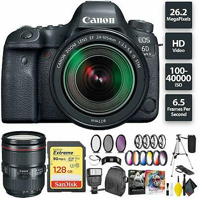 Canon EOS 6D Mark II DSLR Camera + 24-105mm f/3.5-5.6 Lens Bundle0199