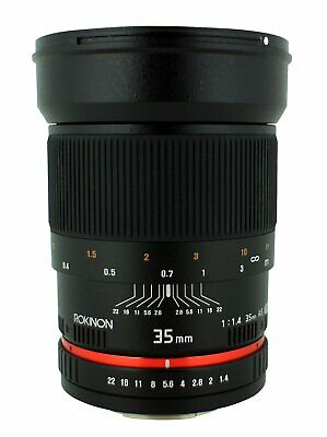 Rokinon 35mm F/1.4 AS UMC Wide Angle Lens for Nikon with Automatic Chip Bundle
