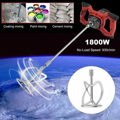 1800W Single Paddle Industrial Electric Mixer Stirrer 220V For Cement Mortar WED