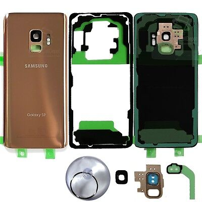 Replacement Back Glass Battery Cover for -OEM Gold- Samsung Galaxy S9 G960