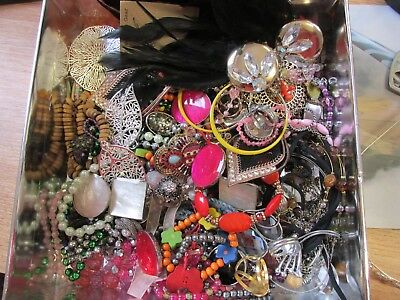 Large Job Lot of Jewellery Costume. Crafts.
