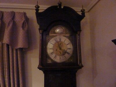 Grandfarther Clock 8 Day Oak Longcase