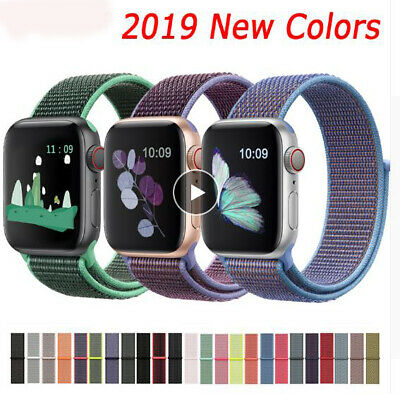 Band For Apple Watch Series 4/3/2/1 38/42MM Nylon Soft Breathable Replacement